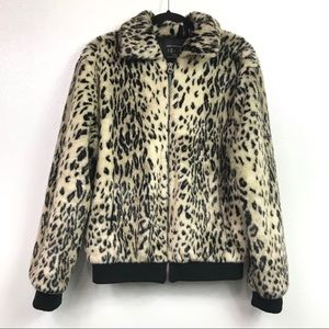 Urban Outfitters Leopard Print Faux Fur Jacket S.